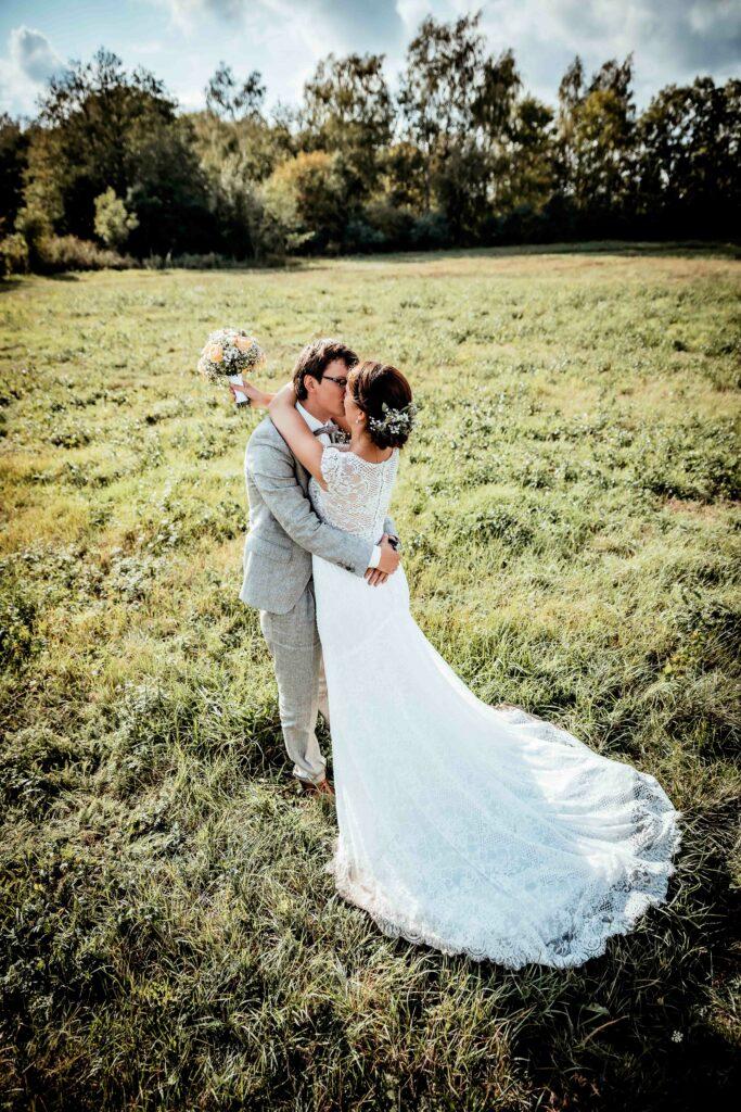Hochzeitspaar, Rohlsdorf bei Meyenburg, Land und Scheune, Hochzeit